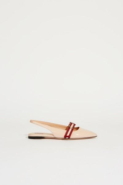Spitzer Lackleder-Flat 'Ali' Rosé