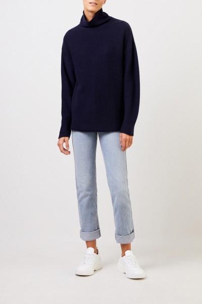 Uzwei Cashmere pullover with turtleneck Navy Blue