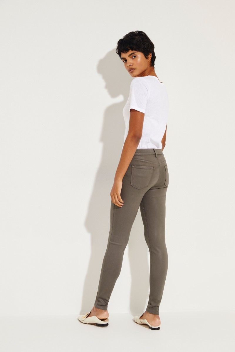 Mid Rise Skinny Jeans Oliv