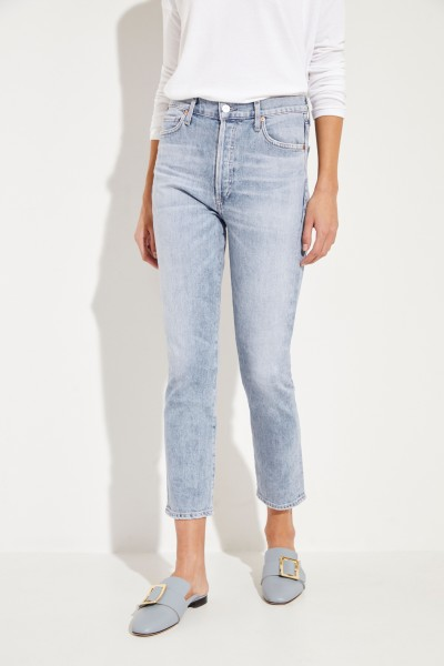 Citizens of Humanity High Rise Slim 'Olivia' Blau