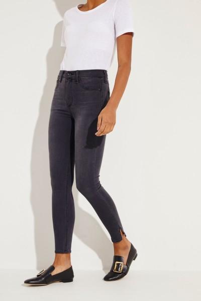 High Rise Skinny Jeans 'Capri' Grau