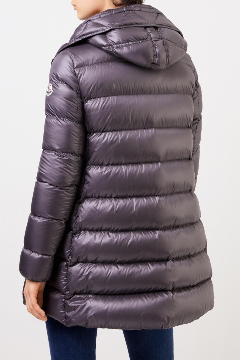 Moncler Daunenmantel 'Suyen' mit Kapuze Grau