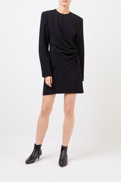 Stella McCartney Kleid mit Raffung Schwarz