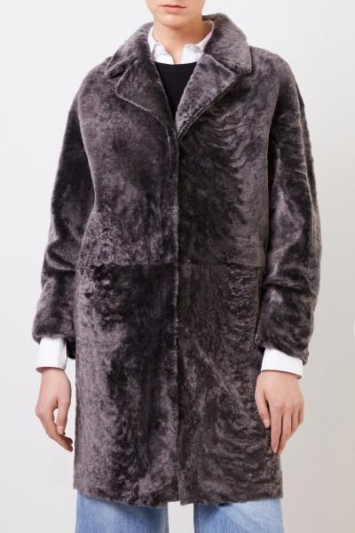 Benedetta Novi Reversible lambskin coat 'Mila Astracan' Antracite