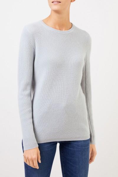 Uzwei Cashmere-Pullover mit Mesh-Strick Seegrün