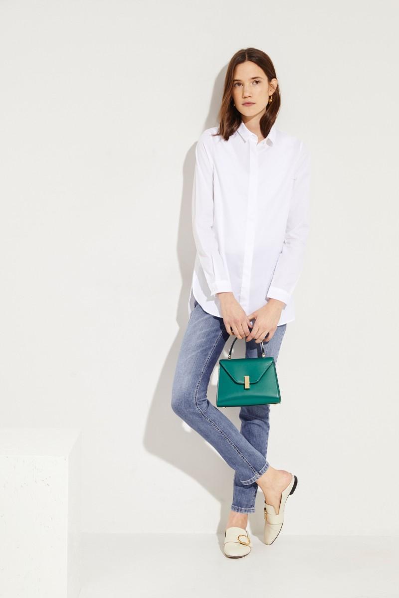 Klassische Bluse 'Salome' Weiß