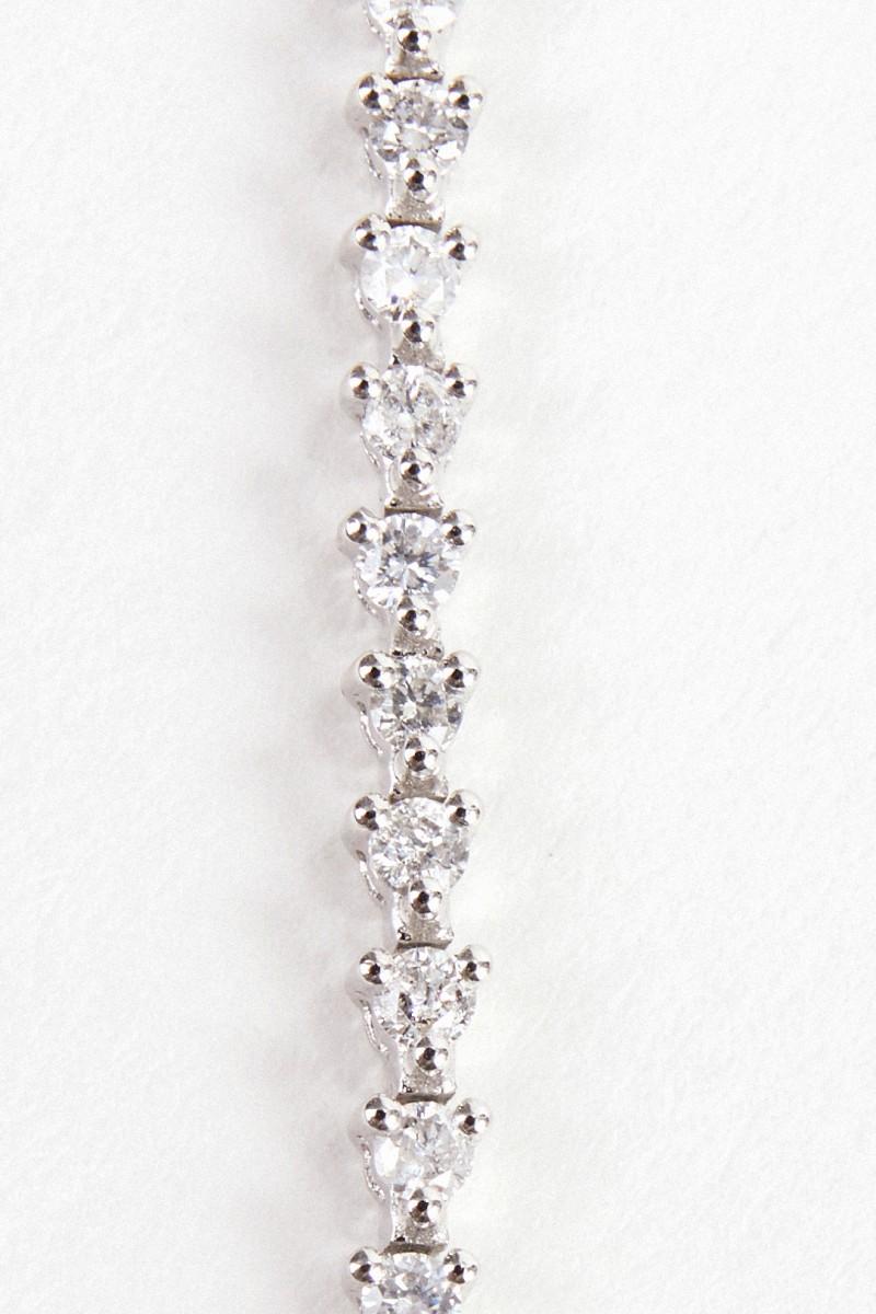 Yvonne Leon Armband 'Riviere Palmiere' mit Diamanten Weißgold