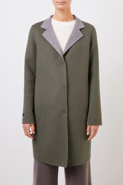 Manzoni 24 Classic cashmere-wool coat Khaki