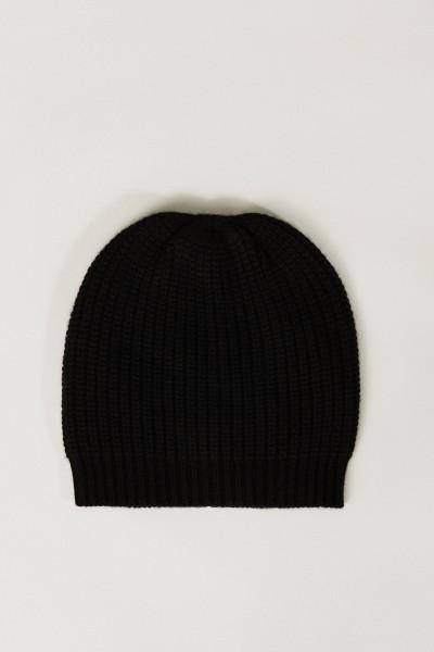 Cashmere-Mütze Schwarz