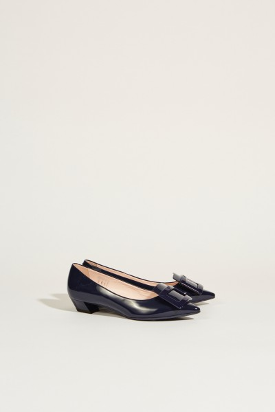 Lackleder-Ballerinas 'Gommettine' Marineblau