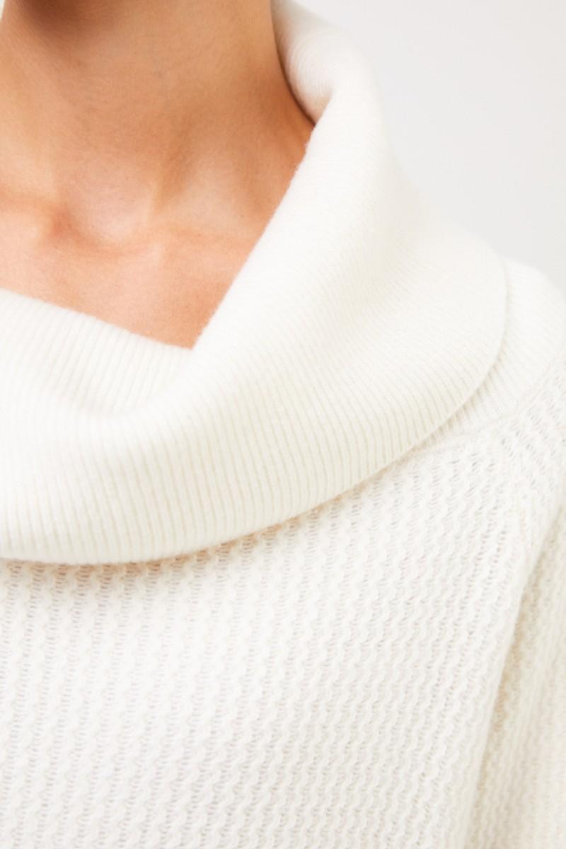 Stella McCartney Woll-Pullover mit Rollkragen Crème