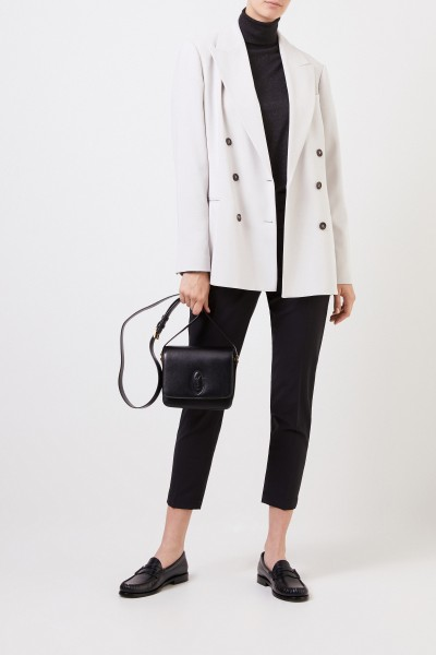 Cashmere-Seiden-Pullover mit Lurexdetails Schwarz