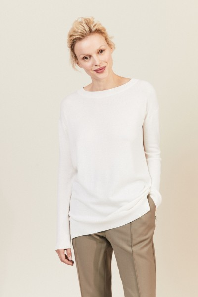 Oversize Cashmere-Pullover Crème