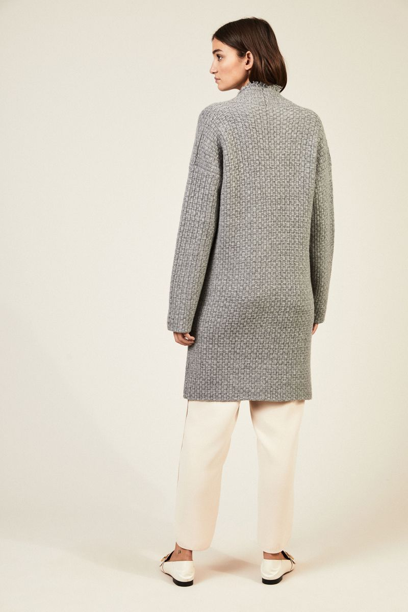 Oversize Cashmere-Cardigan 'Aurora' Grau