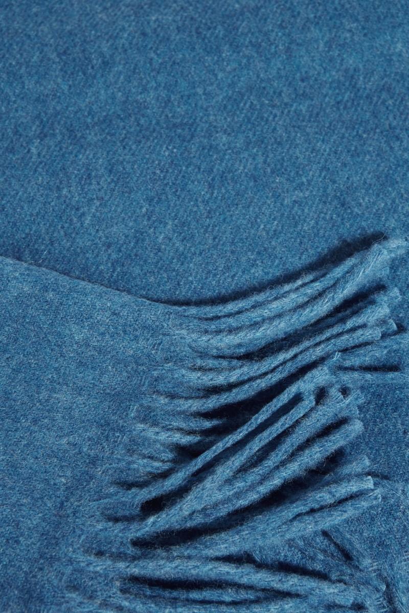 Klassischer Wollschal 'Canada New' Blau