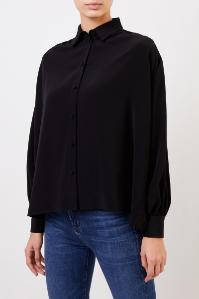 Co Blouse with gatherings Black