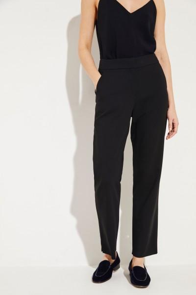 Woll-Hose mit elastischem Bund Schwarz