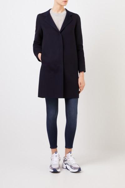 Wool-cashmere coat Navy Blue
