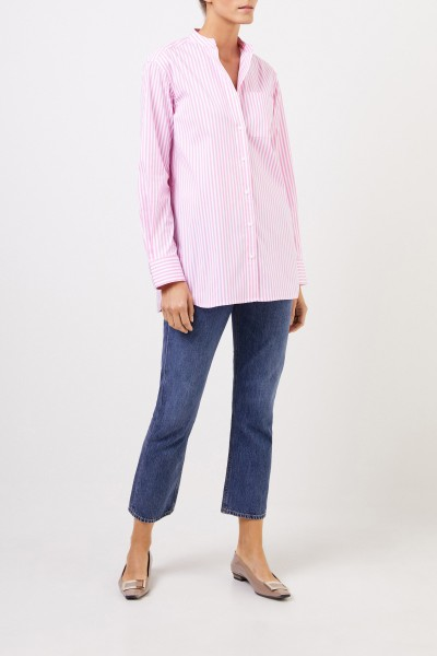 Uzwei Striped cotton blouse Light Pink/White
