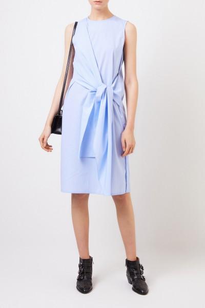 Baumwoll-Kleid 'Alicia' mit Bindeelement Blau