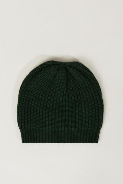 Cashmere-Mütze Grün