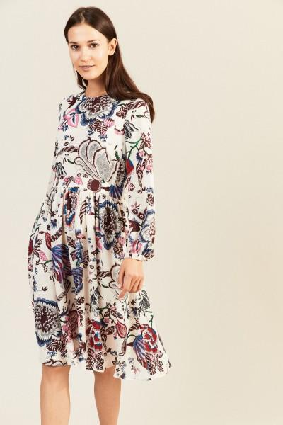 Seidenkleid 'London' mit floralem Print Multi