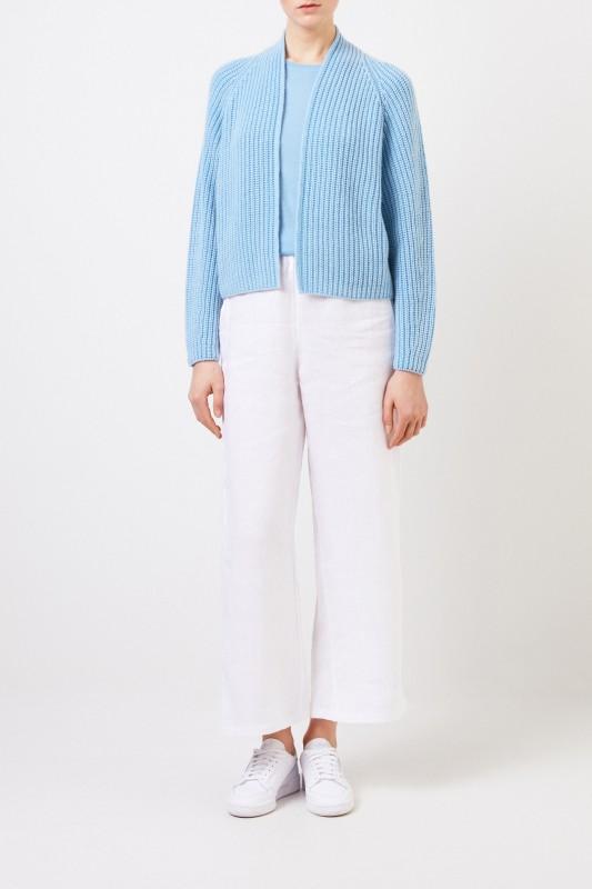 Iris von Arnim Feinstrick Cashmere-Pullover 'Ivastone' Sky Blue