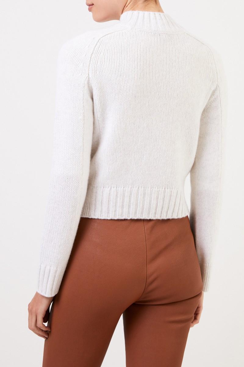 Vince Cashmere-Pullover Weiß