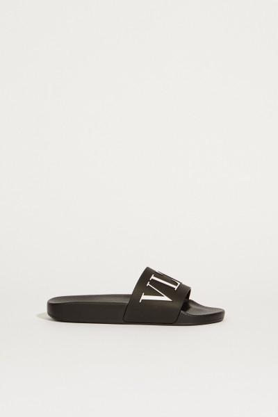 Sandal with Logo Black/White
