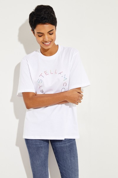 T-Shirt with frontal application White