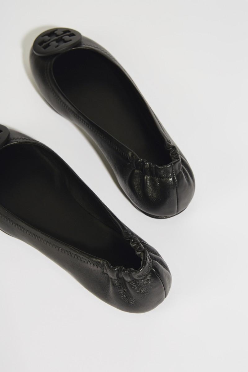 Leder-Ballerina 'Minnie Travel Ballet' Schwarz