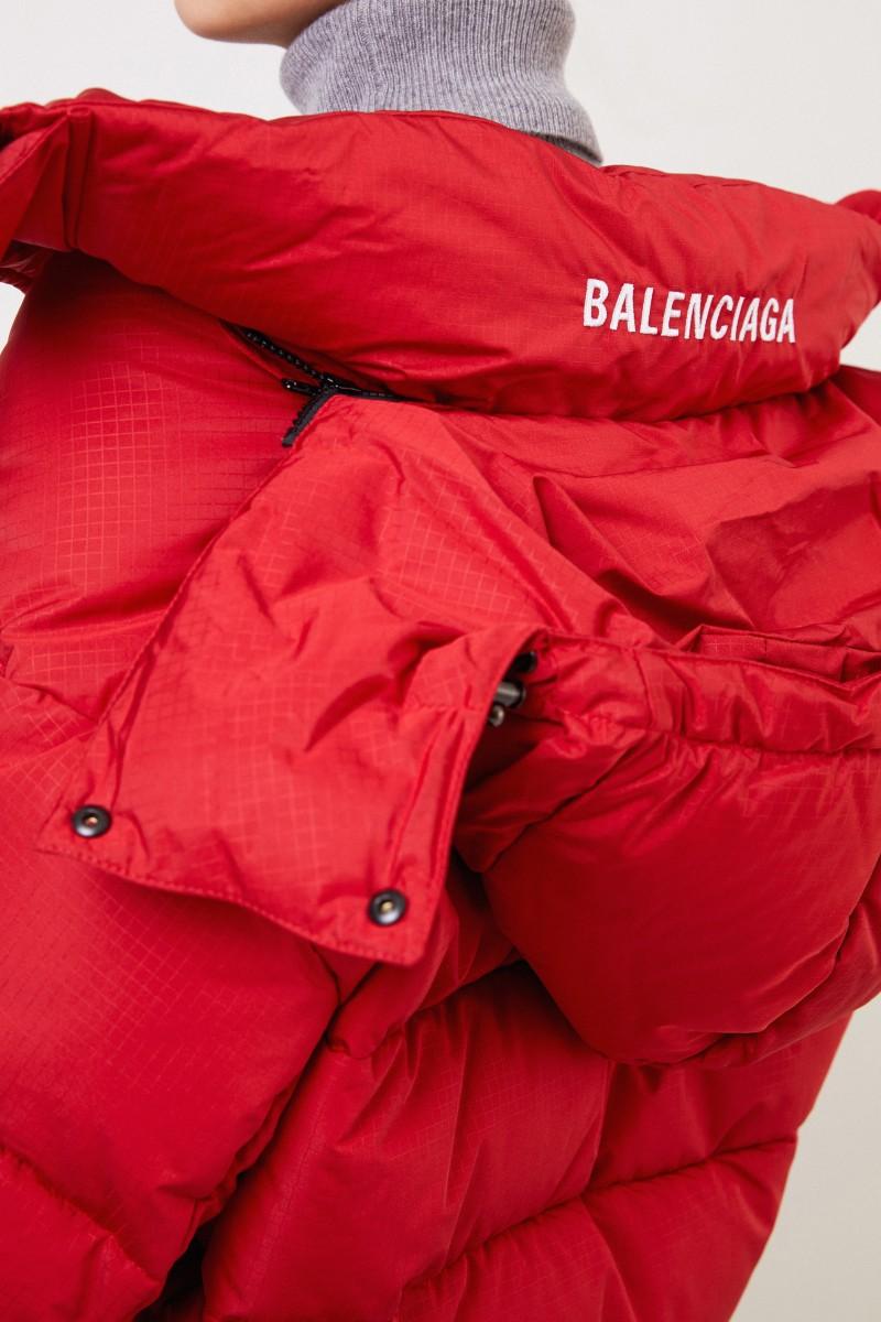 Balenciaga Daunenjacke mit Kapuze Rot