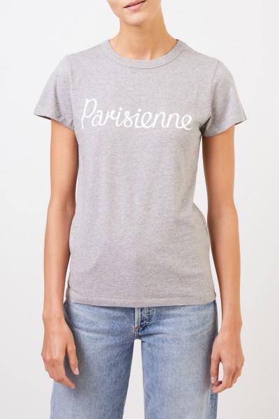 Maison Kitsuné T-Shirt 'Parisienne' Hellgrau