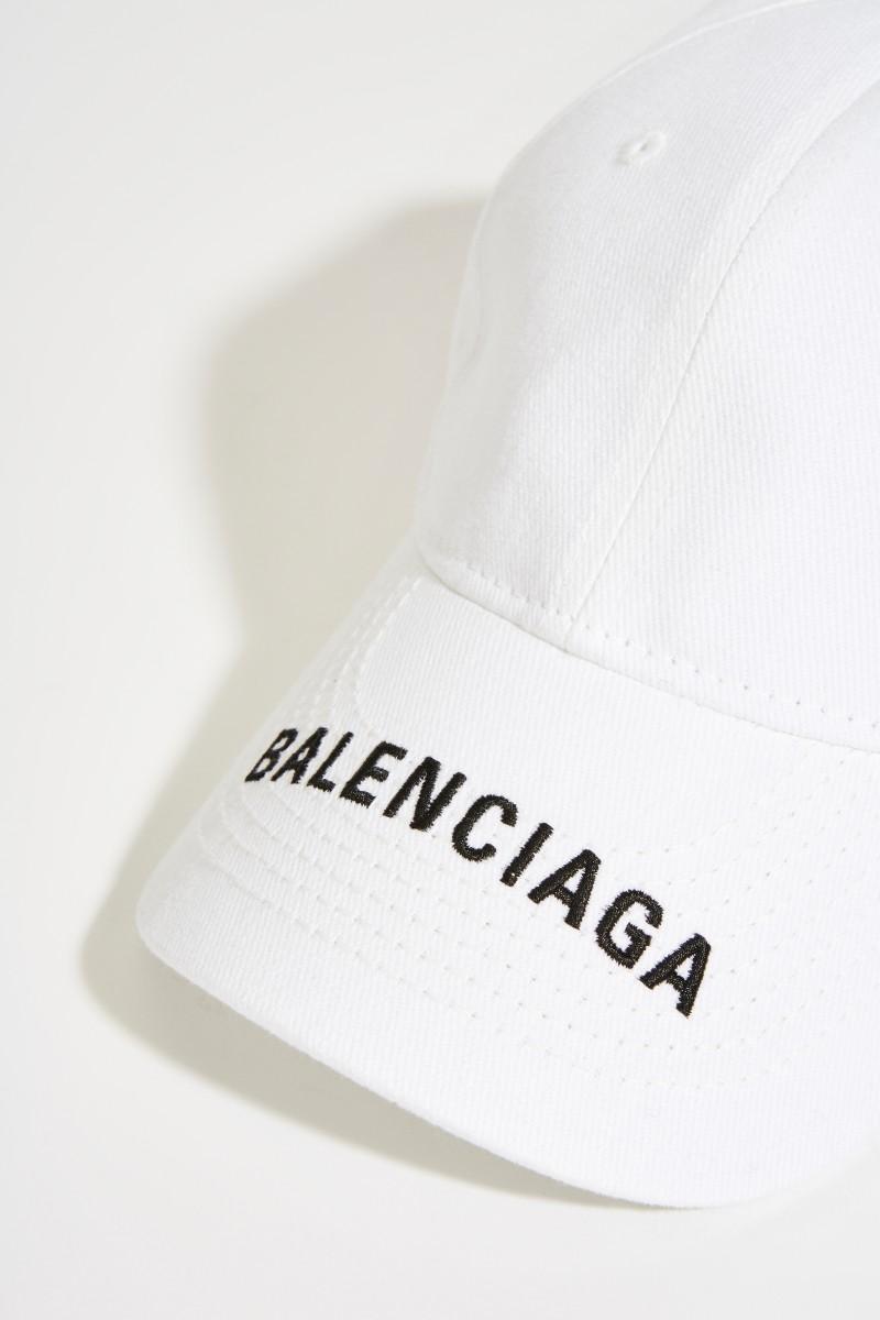 Cap mit Logo-Schriftzug Weiß