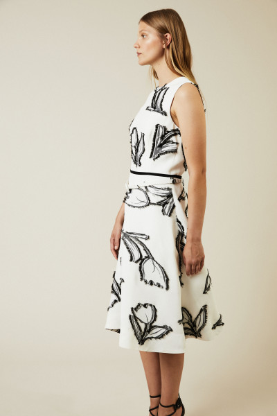 Gemustertes Cocktail-Kleid Black/White