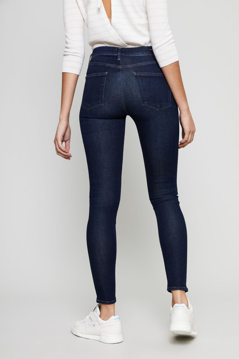 Citizens of Humanity High Rise Skinny Jeans 'Rocket' Marineblau