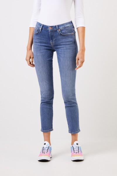 7 for all mankind Skinny-Jeans 'Pyper Copped' Blau