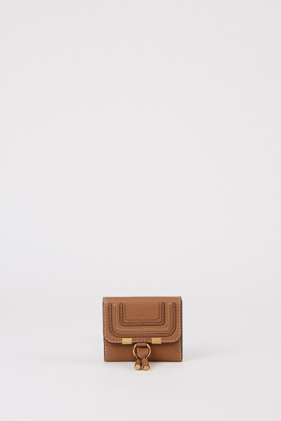 Leather wallet 'Marcie' Nut
