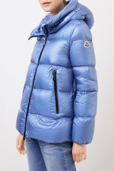 Moncler Down jacket 'Seritte' with hood Light Blue