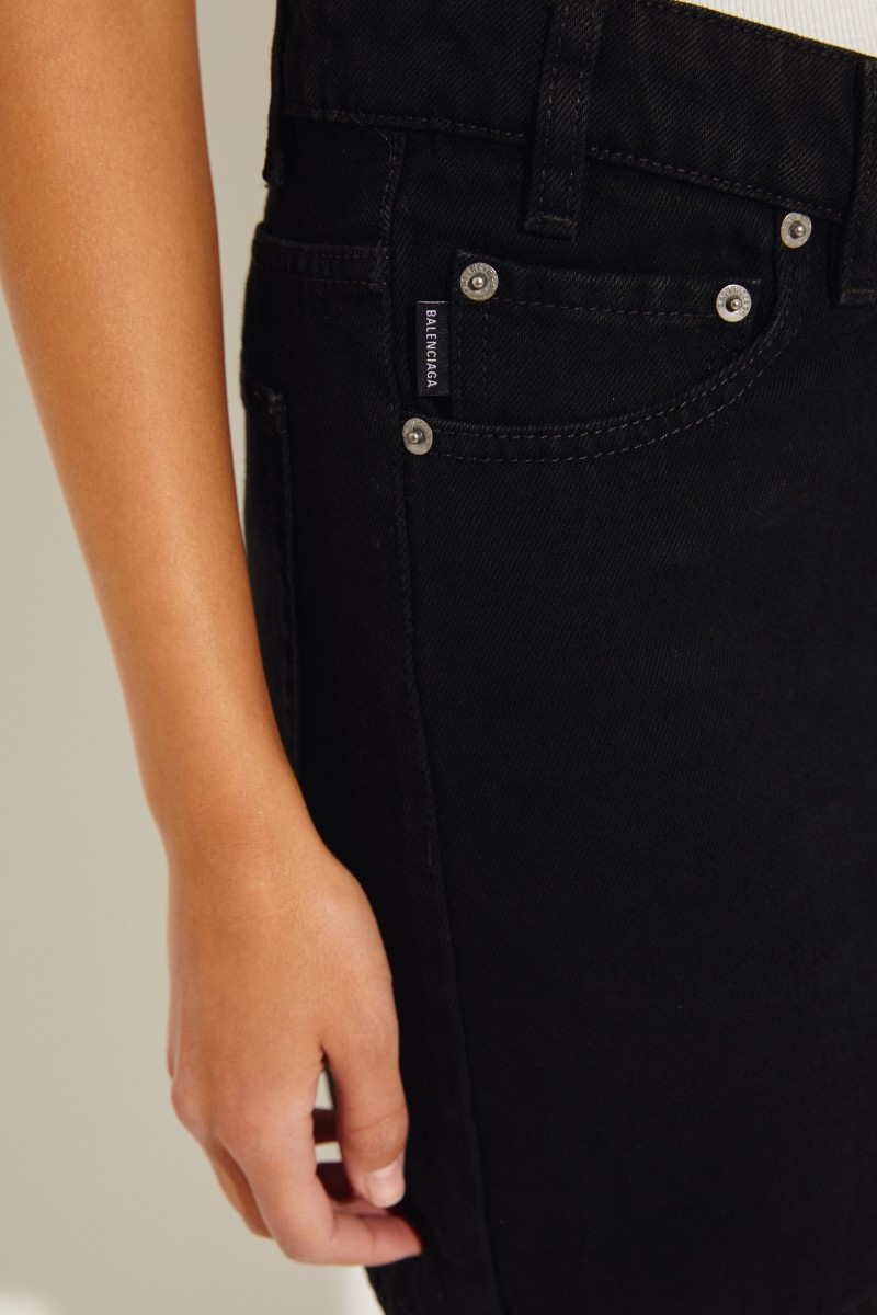 Kurzer Jeans-Rock Schwarz