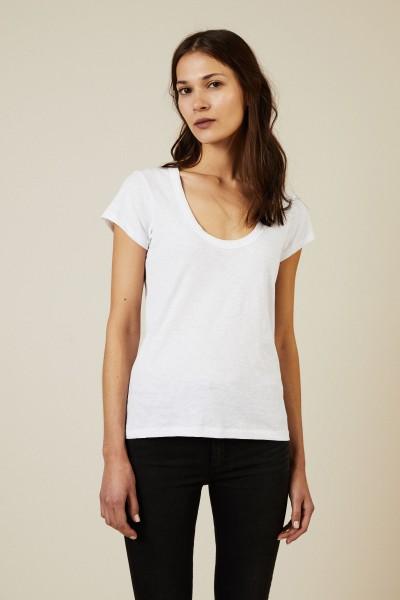 Basic-T-Shirt Weiß