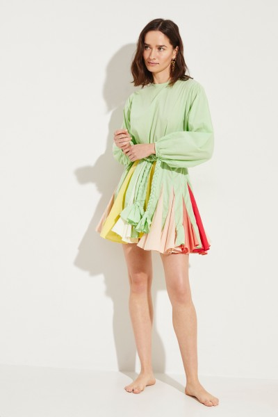 Kleid 'Ella' mit Bindedetail Mint/Multi