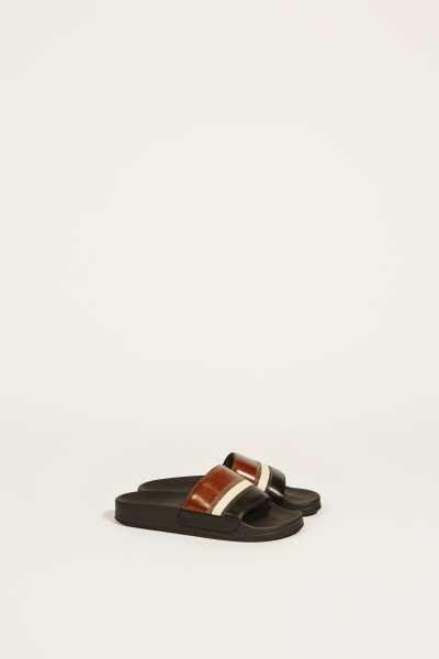 Sandale mit Lederdetails Braun/Multi