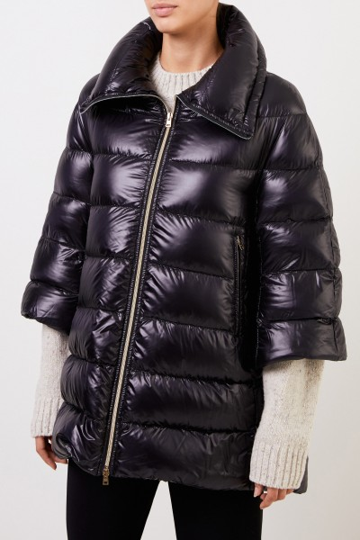 Herno Down jacket with shortened sleeves Navy