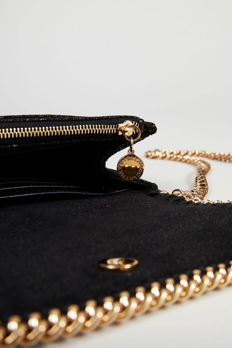 Umhängetasche 'Falabella Crossbody' Black/Gold