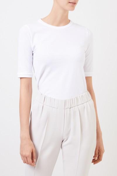 Brunello Cucinelli Klassisches Baumwoll-Shirt Weiß