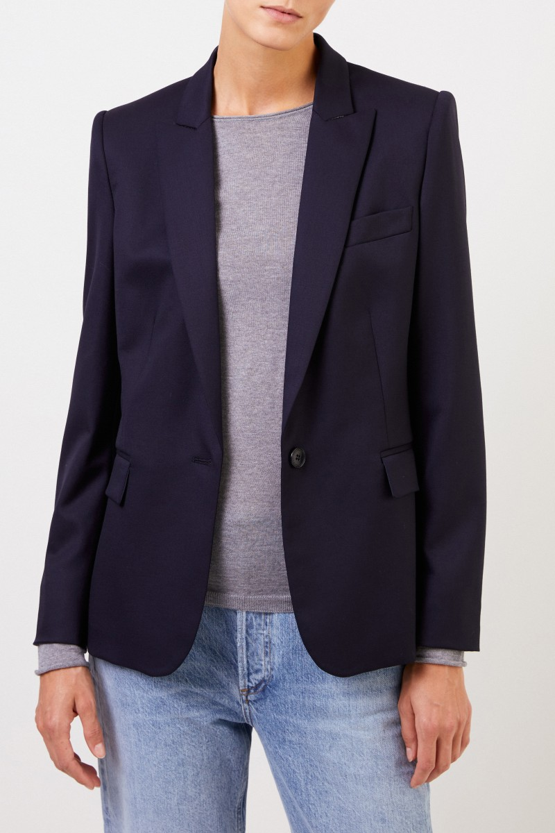 Stella McCartney Woll-Blazer 'Iris' Marineblau