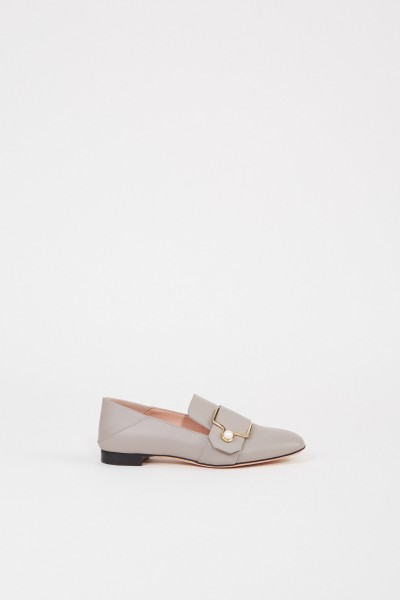 Bally Leather Loafer 'Maelle' with buckle Grey