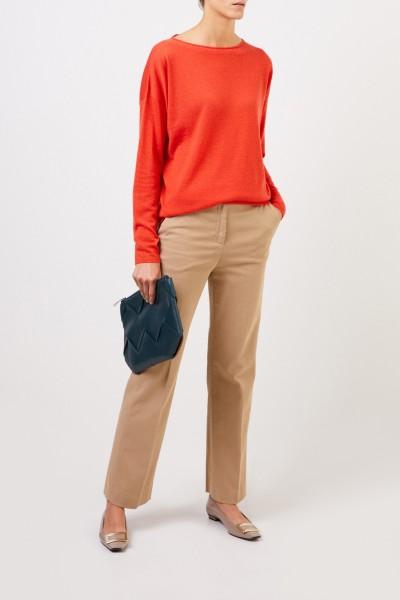 Fine cashmere sweater 'Laniv' Garnet