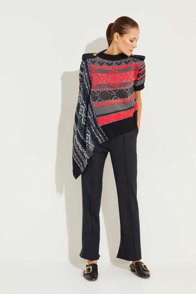 Sacai Asymmetric shirt with print Multi